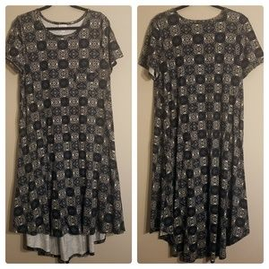 LuLaRoe Carly High Low Short Sleeve Dress